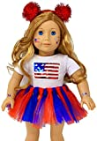 MY GENIUS DOLLS USA Patriotic Doll Clothes. Fit 18 inch Dolls Like Our Generation Doll My Life Doll...