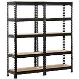 Yaheetech 2 Pack Shelving Units and Storage Shelves Heavy Duty Garage Shelving Shelves Utility Shelves Adjustable Height, 59 inch