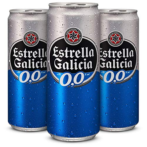 Estrella Galicia 0,0 Cerveza - Pack de 24 latas x 330 ml - T