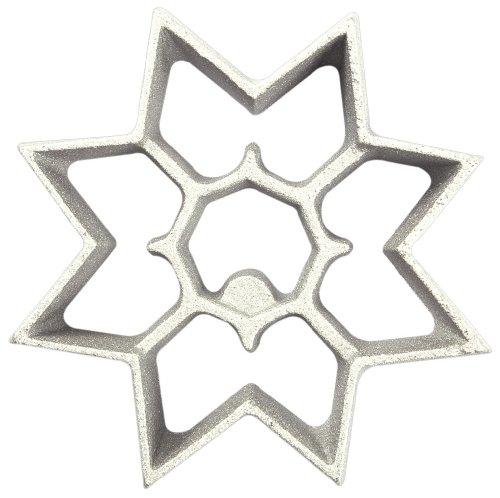 Kitchen Supply Plancha de acero para preparar buñuelos de viento con motivos de temporada, Copo de...
