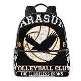 XCNGG Anime y Haikyuu Karasuno Club de Voleibol Mochila Escolar para Estudiantes Ciclismo Escolar Ocio Viaje Camping Mochila al Aire Libre