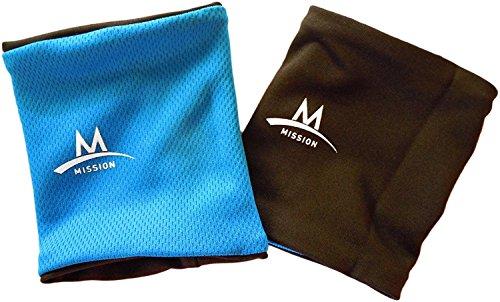 MISSION Enduracool Cooling Wristbands, Blue/Black