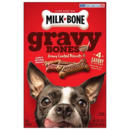 Milk-Bone Gravy Bones Dog Treats, 4 Meat Flavors...