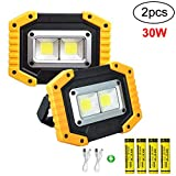 Longdafei Paquet de 2 lampes de travail à LED portatives, projecteurs...