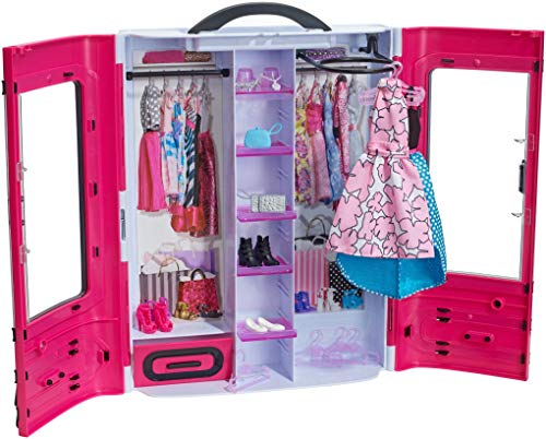 Barbie-DMT57 Fab Fashion Closet Guardaroba alla Moda con Abiti e Accessori, 3 Anni+, Multicolore,...
