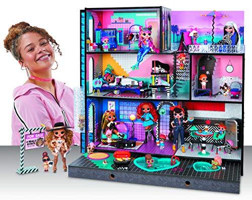 Image 2 - LOL Surprise OMG Maison de poupée en bois, + 85 Surprises, 6 pièces dont 1 chambre, 1 salle de bain, 1 piscine, 1 ascenseur, 1 cuisine, 1 armoire & + Maison 91x91cm, garçons/filles de 3 ans et +