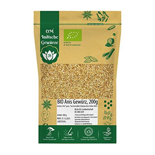 Anissamen Anis BIO ganz 200g Anissaat Anis Samen Aniseed für Gesunde Küche und Tee Organic Bio-zertifiziert DE-ÖKO-039