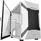 MUSETEX MESH Micro ATX Tower Case with 2 PCS × USB 3.0 Ports Magnetic Design Opening Tempered Glass...