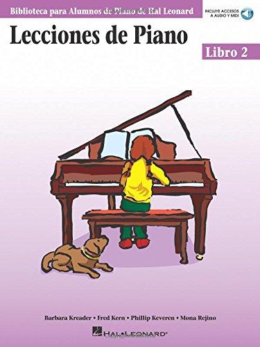 Lecciones de Piano 2 Piano (incluye accesos a audio y midi) (Biblioteca Para Alumnos de Piano de Hal