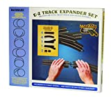 Bachmann Trains - Snap-Fit E-Z TRACK LAYOUT EXPANDER SET - STEEL ALLOY Rail With Black Roadbed - HO Scale