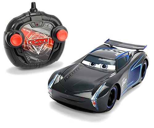 Dickie Toys RC Cars 3 Turbo Racer Jackson Storm, RC Fahrzeug, Ferngesteuertes Auto, 2-Kanal FS, Turbo Funktion, 17 cm