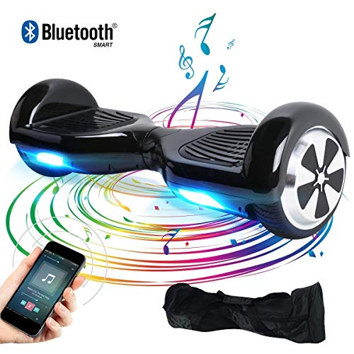 "BEBK Hoverboard, 6.5"" Elektro Scooter mit Bluetooth Lautsprecher, 500W Motor, LED, Self-Balance E-Skateboard"