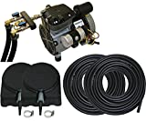 Complete Pond Aeration Kit   Rocking Piston Aerator + 200' of Weighted Tubing + 2 Diffusers (1/4 Hp, No Cabinet)