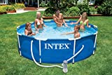 Intex Metal Frame Pool – Aufstellpool –  Ø 366 x 76 cm – Mit Filteranlage – 12V - 5