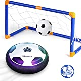 WisToyz Kids Toys Hover Soccer Ball Set with 2 Goals, Air Soccer with Led Light, Excellent Time Killer for Boys/Girls, Hover Toys with Foam Bumper for Indoor Games, an Inflatable Ball Included