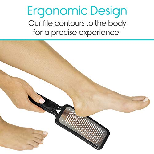 Vive Foot File (3 Pack) - Callus Remover Pedicure Tool Kit for Men, Women Care - Dead Skin Heel Scrub Shaver and Rough… 7