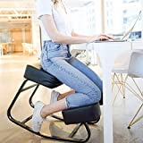 Sleekform Rocking Kneeling Chair | Balance Ergonomic Kneel Chair & Orthopedic Posture Stool for Bad Backs, Neck Pain, Spine & Shoulders Tension | Thick Knee Comfortable Cushions for Upright Sitting