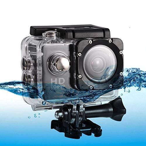 Mugast Videocamera Sportiva 1080P, Action Cam Impermeabile 30M 12MP 90 ° 2 Pollici Schermo con Batteria Ricaricabile 900mAh e Kit di Accessori Memory Card 32G per attività all'aperto