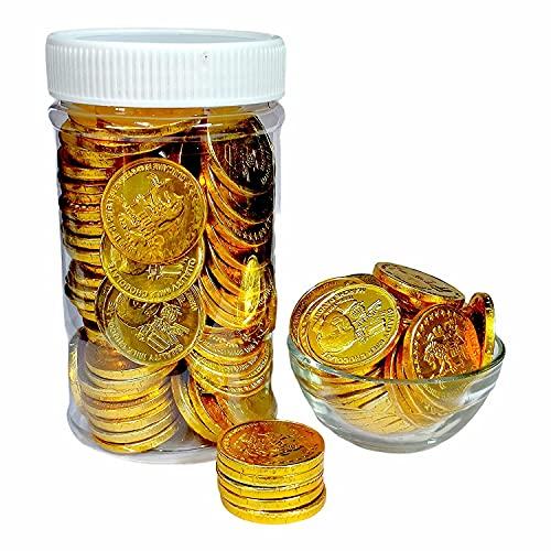 Dry Fruit Hub Gold Coin Milk Chocolates 250gms, Gold Coin Chocolates Packet, Milk Chocolate Chips, Milk Chocolate