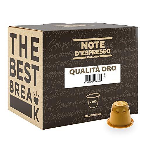 Note D'Espresso Qualità Oro Caffè in Capsule esclusivamente Compatibili con Sistema Nespresso* - 560 g (100 x 5.6 g)