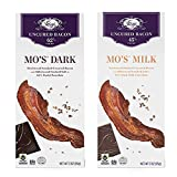 Vosges Milk & Dark Chocolate Bacon Candy Bars (2 Pack) - Mo's Milk Chocolate Bacon Bar + Mo's Dark Chocolate Bacon Bar