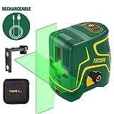 Niveau Laser, USB Charge, Laser Croix Vert 30m TECCPO, Décoration...