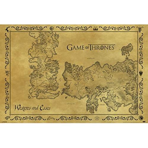Game Of Thrones Poster con diseño Antique Map, estándar, 61 x 91.5 cm