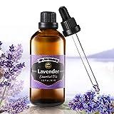 Aceite Esencial de Lavanda Puro aceite 100% orgánico, prensado en frío, filtrado y sin quemar,...