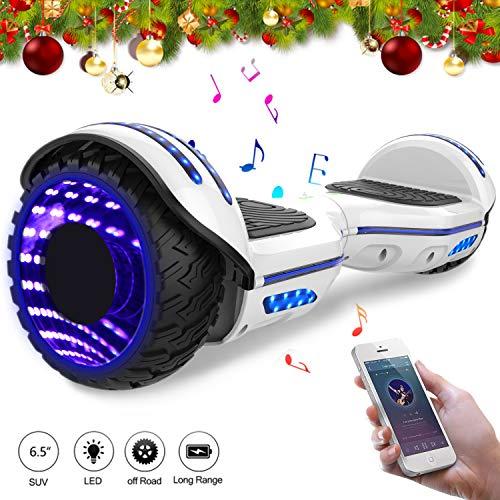 Mega Motion Hoverboard Self Balance Scooter 6.5 E-Star,Scooter électrique Self Balance,Roues LED,Tente LED,Haut-Parleur Bluetooth, Moteur 700W,Gyropod Modèle
