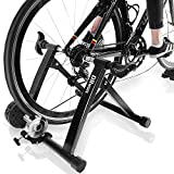 "DRMOIS Bike Trainer Stand – Portable Stainless Steel Indoor Exercise Bicycle Trainer Magnetic Flywheel, Stationary Bike Resistance Trainers for Road & Mountain Bikes with 24-28""Wheel"