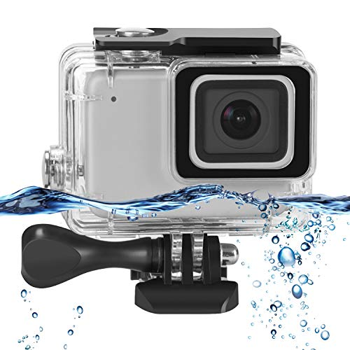 Rhodesy Custodia Impermeabile per GoPro Hero 7 Silver/White, Custodia Protettiva Include Staffa e Vite per GoPro Hero 7 Silver/White Action Camera (Incompatibile con GoPro Hero 7 Black)