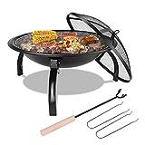 Femor Barbecue Grill Extérieur Portable,Pliable,Petit Brasero d'extérieur au Charbon,Jardin Grill...