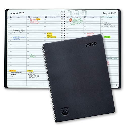 Terminplaner 2020 A4 von SmartPanda – Wochenplaner A4 – Softcover Tagebuch, 30 Minuten-Intervalle – Planer 2020 – auf Deutsch