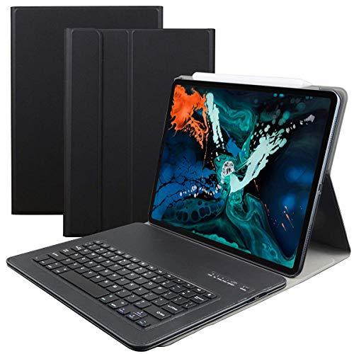 iPad Pro 12.9 2018キーボードケース Broadcomチップを採用Bluetooth 対応 多角度調整 日本語説明書付着 マ...