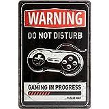 Nostalgic-Art 22264, Respect, Gaming in Progress, Plaque de 20x 30cm