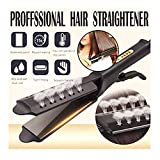 KangCat【US Stock Four-Gear Ceramic Tourmaline Ionic Flat Iron Hair Straightener for Women Professional Glider Hair Straightener Ceramic Flat Iron for All Hair Types Wet & Dry Using