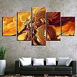 Haojie 5 Piezas-Magic Mural, impresión del Arte de la Pintura de la Lona, Familiar Sala de Estar Dormitorio Decoración Pintura, Cinco Partes,A,M