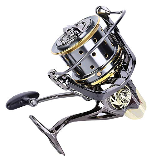VGEBY Mulinello da Pesca Guida ad Alta Resistenza Struttura dell'asta Mulinello da Pesca Anti-Mare per Spinning per tiri Lunghi(GX8000)