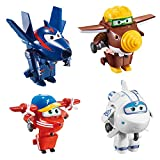 Super Wings Lote 4 transformables: Astra, Flip, Todd y Chace (ColorBaby 85219)