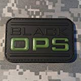 Black OPS Glow in The Dark PVC Rubber Morale Patch by NEO Tactical Gear Morale Patch - Hook Backed