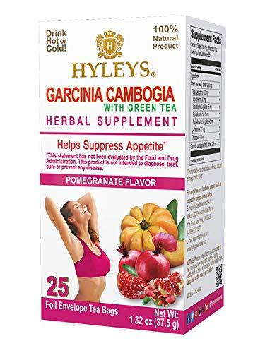 Hyleys Wellness Garcinia Cambogia Green Tea Pomegranate (100% Natural, Sugar Free, Gluten Free and Non-GMO) 1