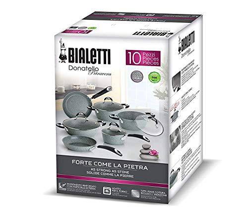 Bialetti Donatello Petravera Batteria Adatta all'Induzione, Alluminio, Grigio, 1 Unit