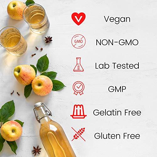 Apple Cider Vinegar Gummies with Mother - All Natural, GMO-Free, Vegan Apple Cider Vinegar Capsules for Increased Energy, Weight Management, Improved Digestion, Detox & More- 60 ACV DR. Gummies 4