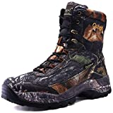 cungel Men's Hunting Boot 8-INCH Camouflage Timber Waterproof Hunter Shoes Forest Boots Jungle Anti-Slip Lightweight Breathable Durable Fishing Hiking Working Field Hunting(Black camo,7.5)