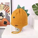 wtnhz Artículos de Moda Gorro de Lana de Punto cálido Coreano de Dibujos Animados Lindo bebé Dinosaurio Sombrero de Lana otoño e inviernoRegalo de Vacaciones