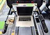 STYLEZONE Treadmill Laptop Computer Desk Setup Acrylic Laptop Computer iPad MacBook Book Holder and Stand on Treadmill Workstation with Protective Stop Block Curvy
