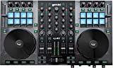 Gemini GV Series G4V Professional Audio 4-Channel MIDI Mappable Virtual DJ Controller with Touch Sensitive Jog Wheel and LED Monitor
