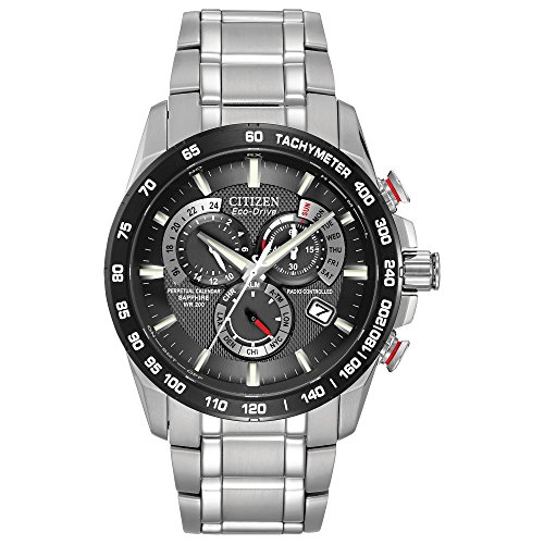 Citizen Men's Eco-Drive Perpetual Chrono Atomic Timekeeping Watch with Day/Date,  AT4008-51E