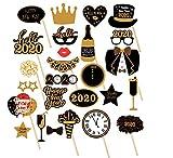 Losuya 28 pièces 2020 Accessoires de photomaton du Nouvel an pour Le Nouvel an Event Party Favors Decorations