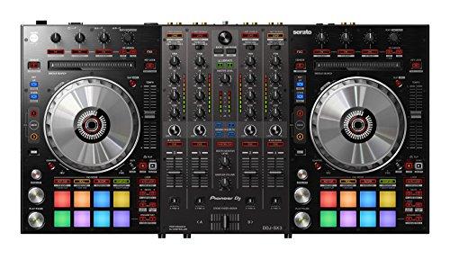 Pioneer DDJ SX3 SERATO DJ CONSOLE 4 CANALI - 2 porte USB (2 SK Audio per il collegamento di 2 PC) - 3 ingressi MIC - Jog-Wheel bassa latenza - MIXER Stand-Alone